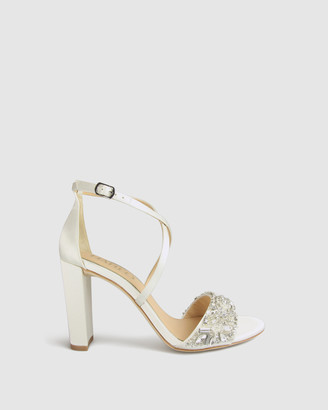 Harlo - Women's White Heeled Sandals - Audrey - Size One Size, 8.5 at The Iconic
