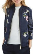 Ted Baker Women's Entangled Enchantment Embroidered Bomber Jacket