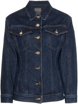 Gold Sign fitted-waist denim jacket