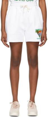 Casablanca White Tennis Club Shorts