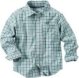 Carter's Little Boys' Button Front Check Shirt