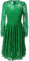 Dolce & Gabbana floral lace flared dress