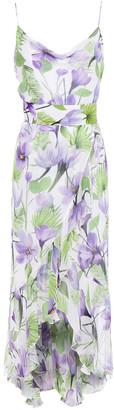 Alice + Olivia Ruffled Floral-print Georgette Dress