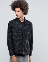 Cheap Monday Out Shirt Jacket Camo Space Gray