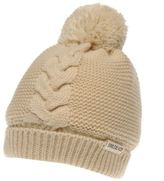 Soul Cal SoulCal Womens Cream Beanie Snow Winter Warm Accessories