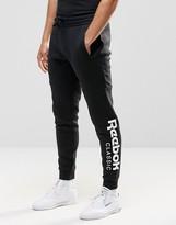 Reebok Large Logo Joggers In Black Ay0784