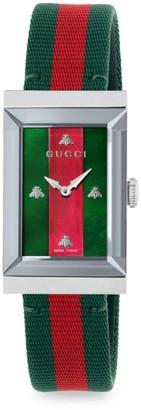 Gucci G-Frame Fabric Strap Watch