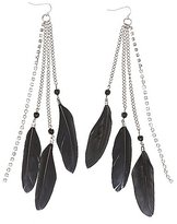 Charlotte Russe Feather Fringe Earrings