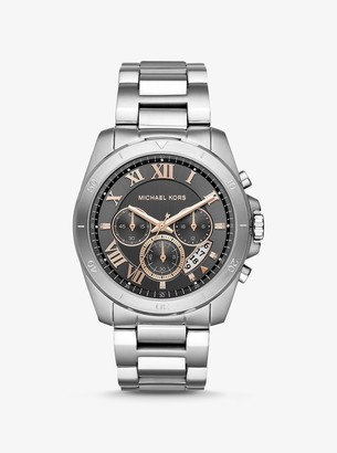 Michael Kors Oversized Brecken Silver-Tone Watch
