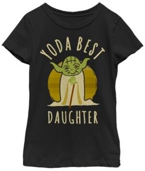 Fifth Sun Star Wars Big Girl's Yoda Best Daughter Cartoon Yoda Short Sleeve T-Shirt