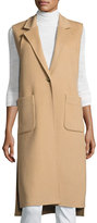 Halston Double-Faced Wool-Blend Vest