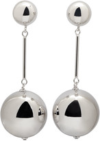 J.W.Anderson Silver Sphere Drop Earrings