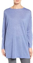 Eileen Fisher Women's Fine Gauge Knit Bateau Neck Pullover