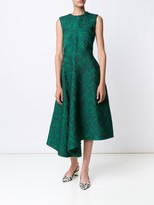 Jason Wu Herringbone Cloque Sleeveless Cocktail Dress