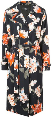 Rochas Floral Print Trenchcoat