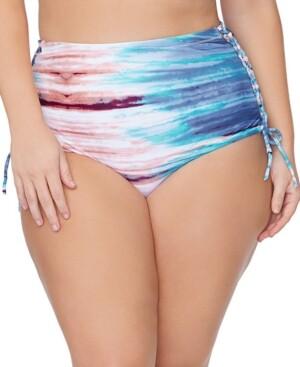 Raisins Curve Trendy Plus Size North Shore In The Shallows Printed Bikini Bottoms Women's Swimsuit