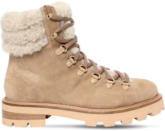 Jimmy Choo 30mm Eshe Leather Hiking Boots