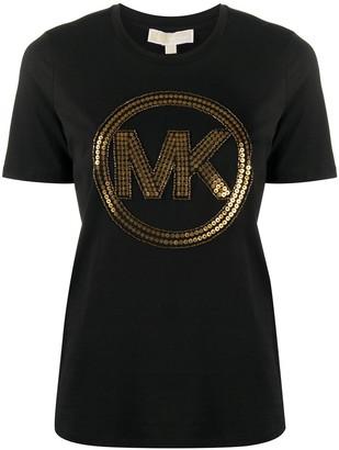 MICHAEL Michael Kors sequin-embellished logo T-shirt
