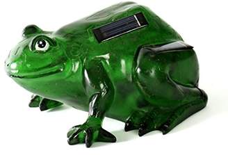 Camilla And Marc Galix G020040AA Decorative Toad Solar Powered Poly Resin Light 20 x 18.5 x 10.5 cm