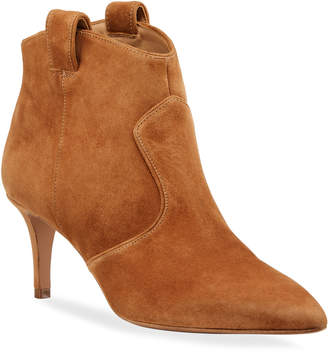 Veronica Beard Lexi Suede Tabbed Booties
