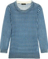J.Crew Tippi Gingham Merino Wool Sweater - Blue