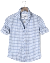 Frank And Eileen Womens Limited Edition Double Grid Poplin Shirt