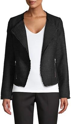 Saks Fifth Avenue Tweed Open-Front Jacket