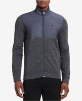 Calvin Klein Men's Chambray Mixed Media Jacket