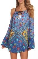 Nanette Lepore Women's Woodstock Cold Shoulder Cover-Up Tunic
