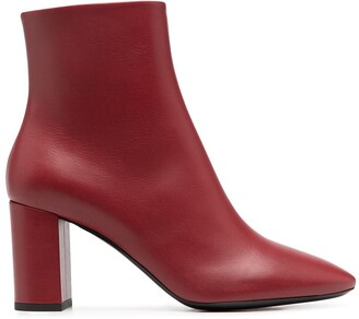 Saint Laurent Mid-Heel Ankle Boots