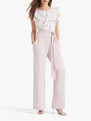 Phase Eight Victoriana Floral Jumpsuit, Ivory/Petal