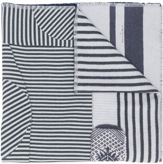 Pierre Louis Mascia Ribbed Striped Scarf