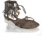 Shellys Ankle Tassel Flat Sandal