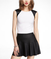 Express (Minus The) Leather Block Scoop Back Tee