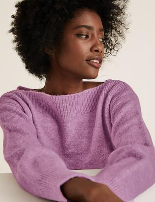 Marks and Spencer Knitted Slash Neck Jumper