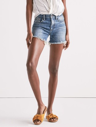 High Rise Tomboy Cut Off Jean Short In Hartley Fray