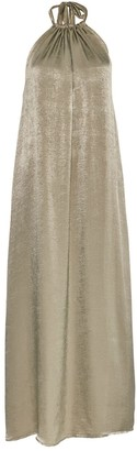 Cocoove Lullah Halter Maxi Dress In Sage