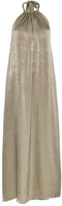 Lullah Halter Maxi Dress In Sage