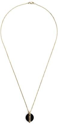 Kristin Hanson Diamond Baguette Disc Pendant Necklace