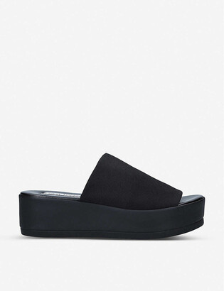 Steve Madden Slinky stretch-woven platform sandals