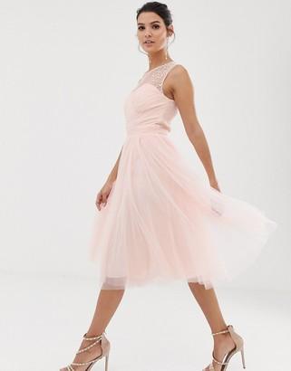 Little Mistress skater dress-Pink