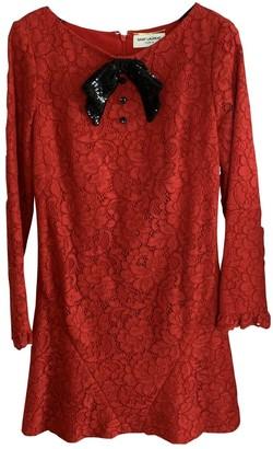 Saint Laurent Red Lace Dress for Women