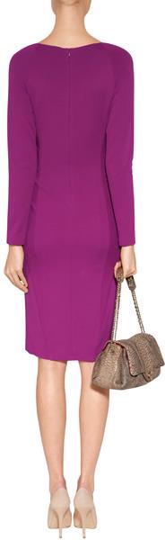 Donna Karan Deep Orchid V-Neck Jersey Dress