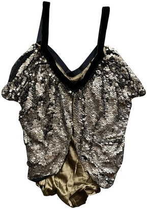 Willow Brown Silk Top for Women