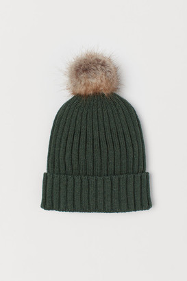 H&M Ribbed Hat - Green