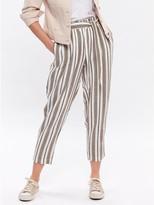 M&Co Petite striped linen trousers