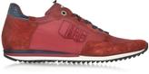 D'Acquasparta Magnifico Red Nylon and Suede Men's Sneaker