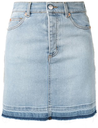 Zadig & Voltaire Stripe-Side Denim Mini Skirt