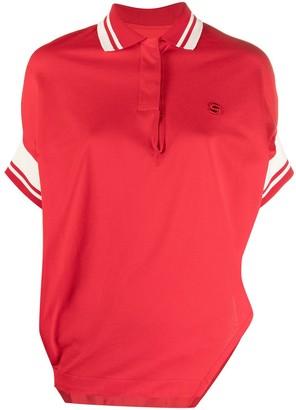 Sacai Asymmetric Cotton Polo Top