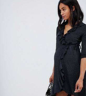Mama Licious Mamalicious Ruffle Wrap Dress